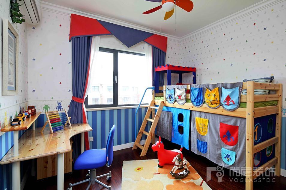 尚层装饰儿童房卧室设计-蓝色