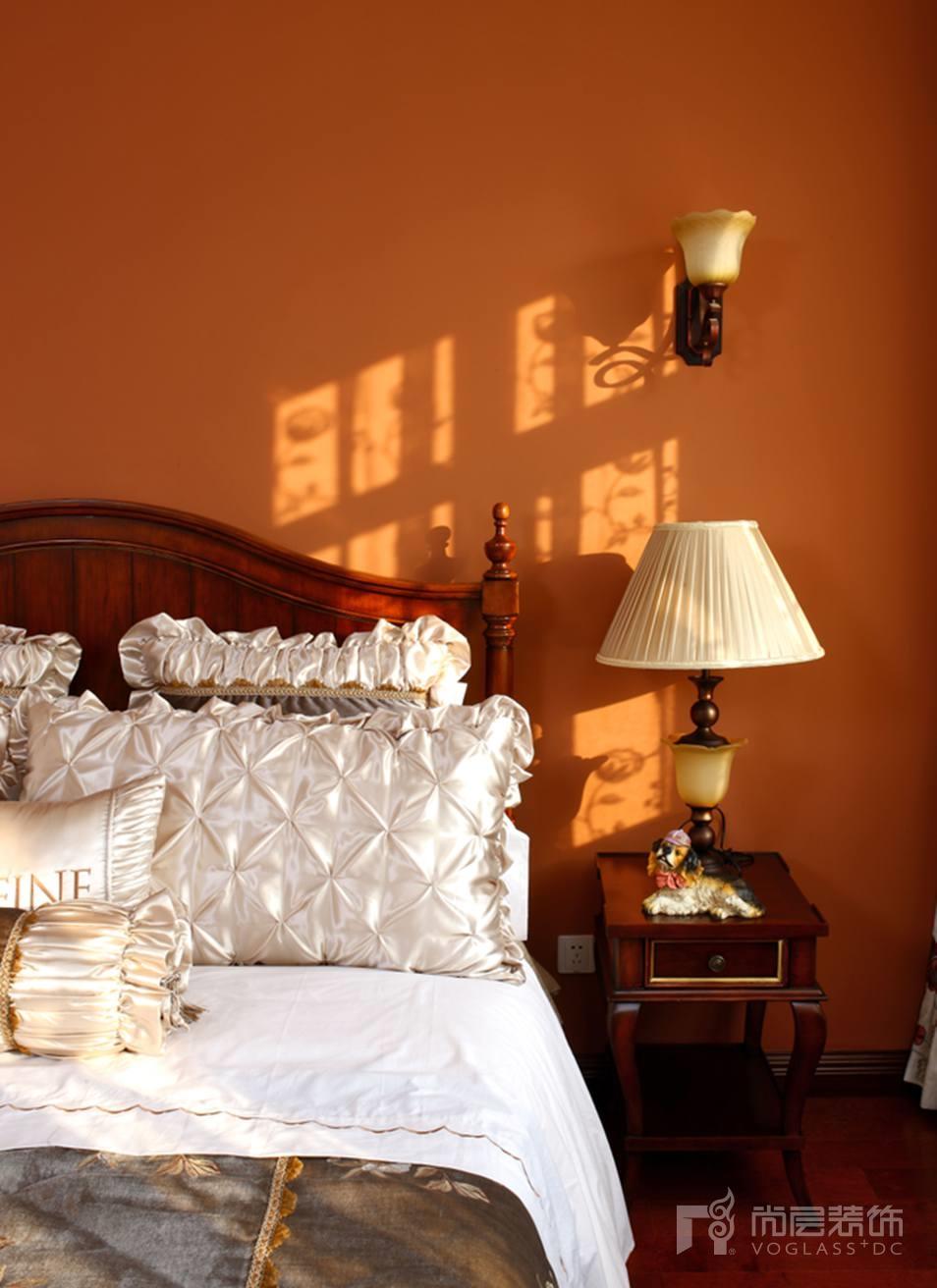 尚层别墅装修儿童房卧室设计-橙色