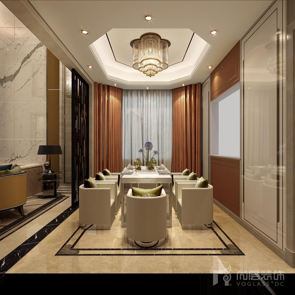 上京王府餐厅别墅装修效果图