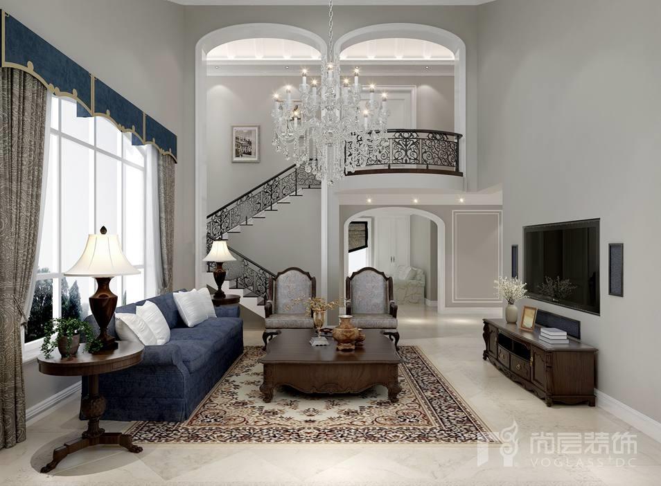 丹佛尔湾美式客厅别墅装修效果图
