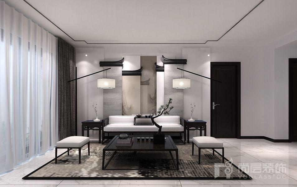 远洋天著新中式多功能厅别墅装修效果图