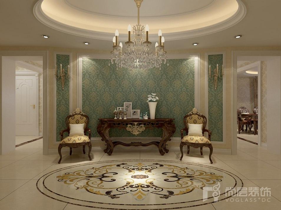 北辰香麓美式门厅别墅装修效果图