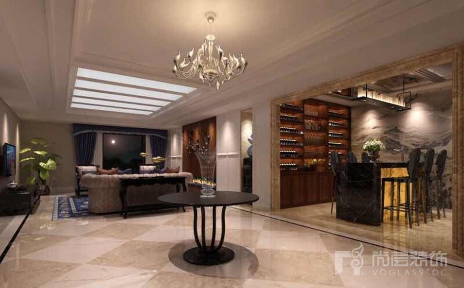 伯顿庄园简约欧式家庭室别墅装修效果图