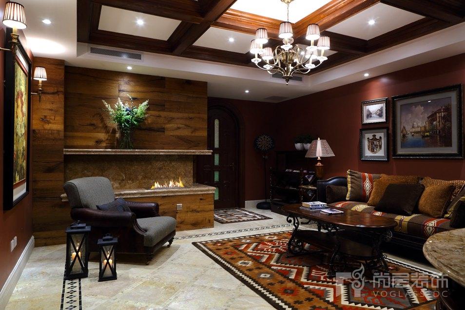 润泽墅郡混搭地下二层会客厅别墅装修效果图