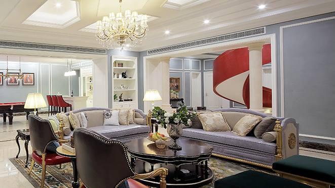 大华西溪风情别墅装饰-美式新古典风格-杭州尚层装饰
