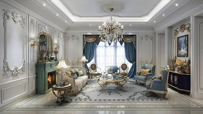 绿城伍重院别墅装饰-法式风格-杭州尚层别墅装饰
