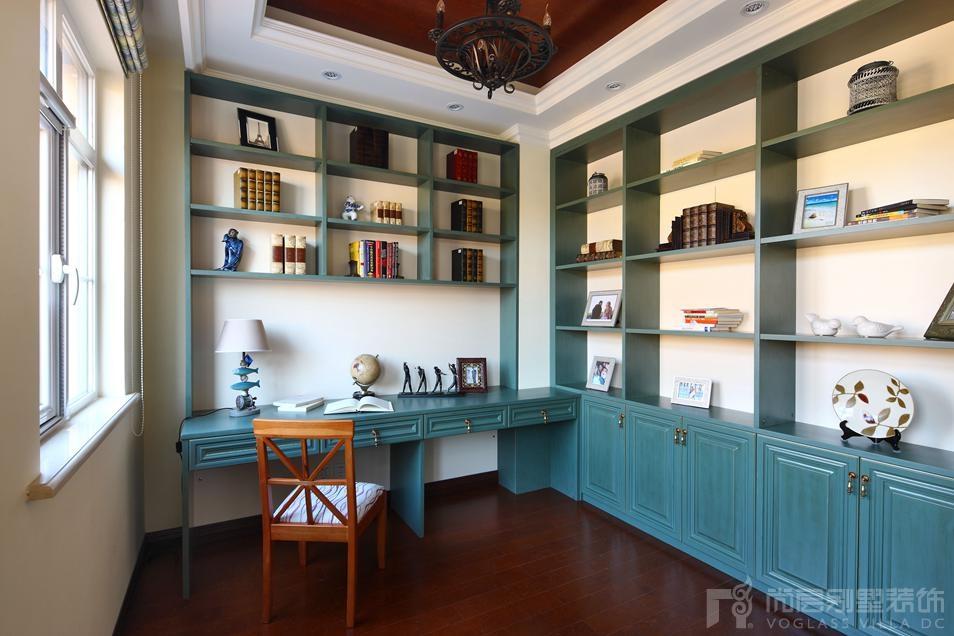 国际半岛托斯卡纳书房别墅装修实景图