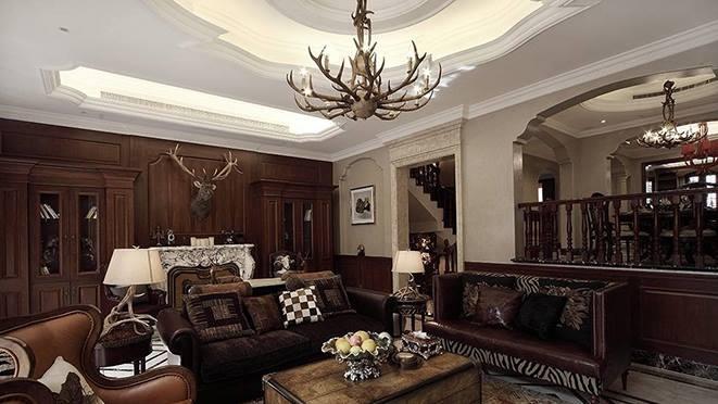 大華西溪風情別墅裝修案例-新歐式風格-杭州尚層裝飾