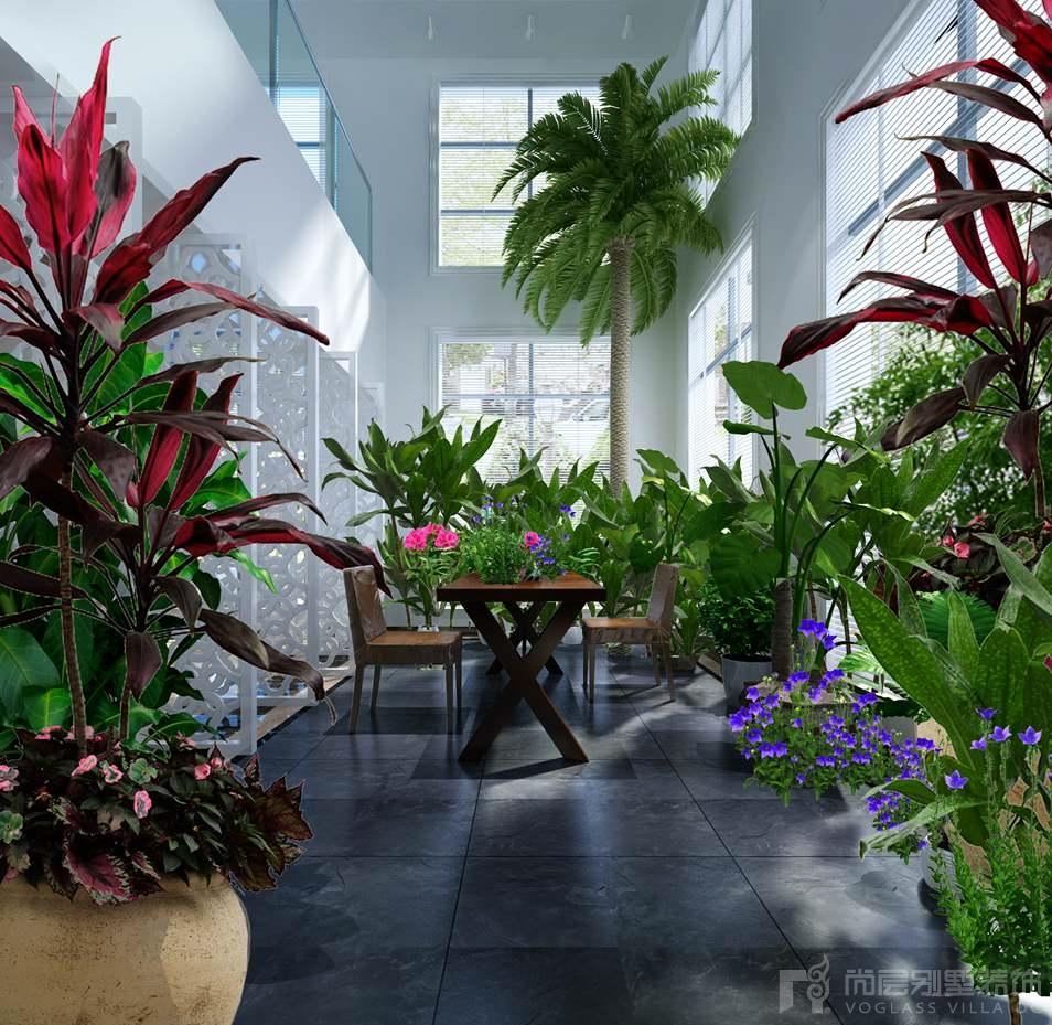 山作庭院现代北欧室内花园别墅装修效果图