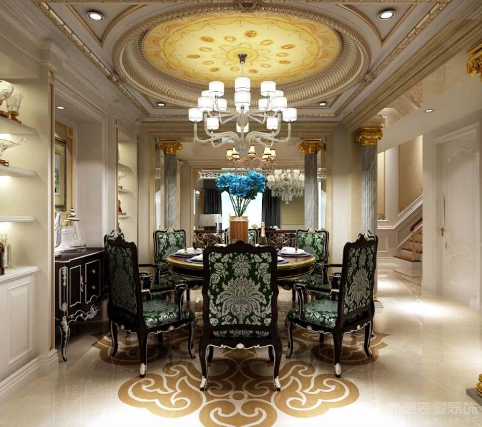 龙景湾新古典餐厅别墅装修效果图