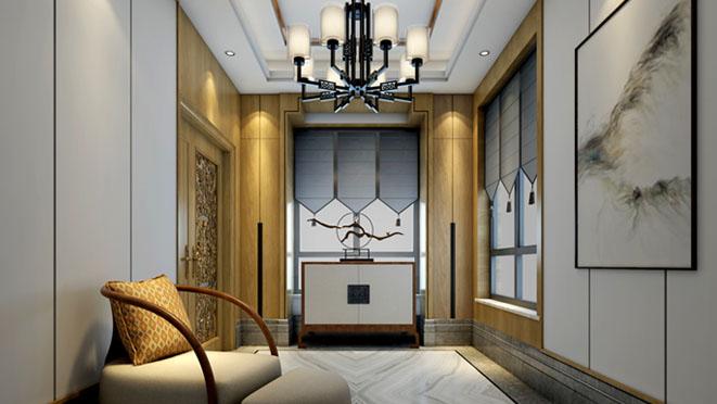 海棠湾新中式门厅别墅装修效果图