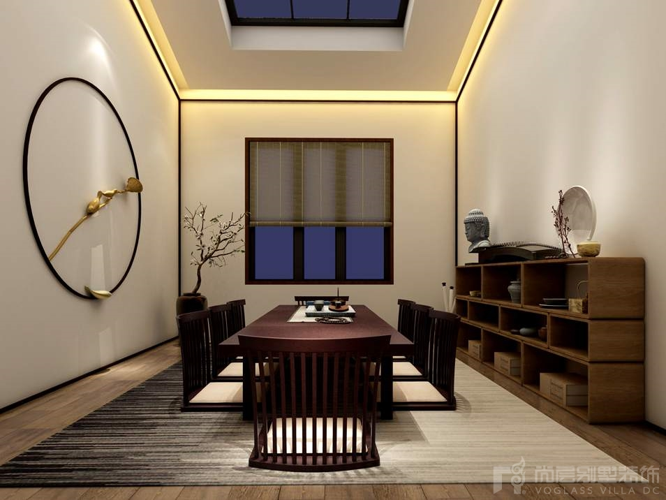 海棠湾新中式茶室别墅装修效果图