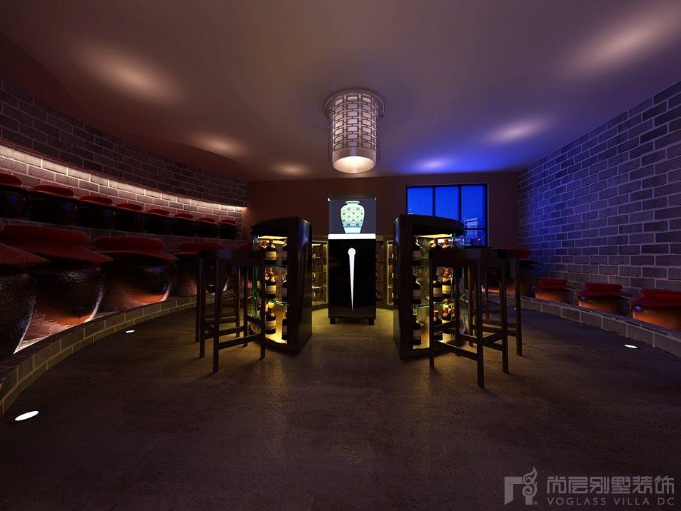 天贵人和新中式酒窖别墅装修效果图
