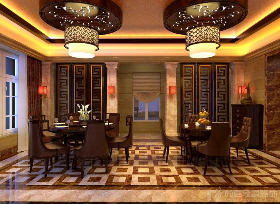 金宝花园混搭餐厅别墅装修效果图