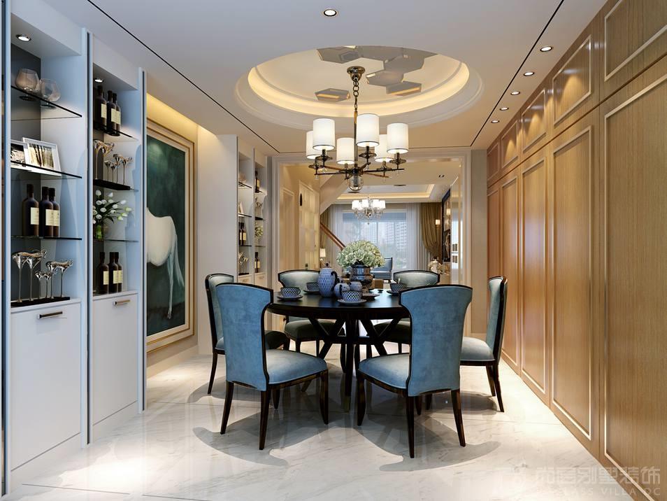 银谷·美泉低奢风格餐厅别墅装修效果图