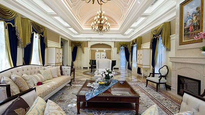青山湖玫瑰园- 欧式混搭设计-杭州尚层装饰