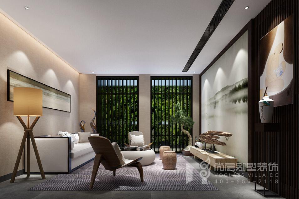 御汤山新中式家庭室别墅装修效果图