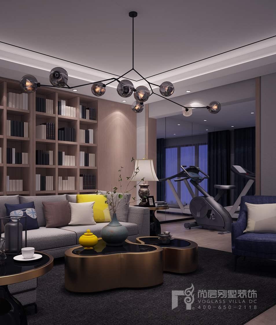 北京院子现代简约健身区别墅装修效果图