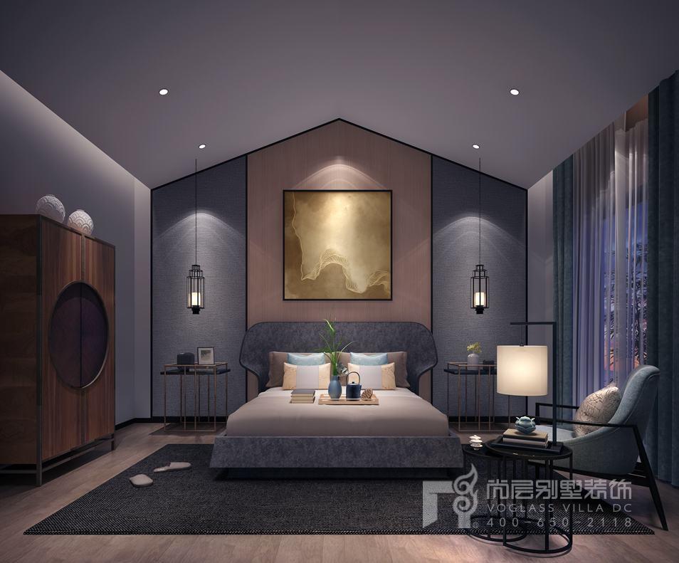 北京院子现代简约主卧别墅装修效果图