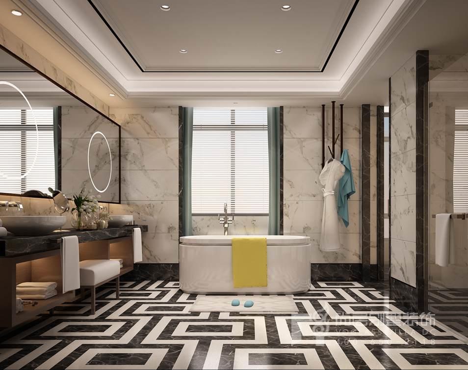 新中式卫生间别墅装修效果图