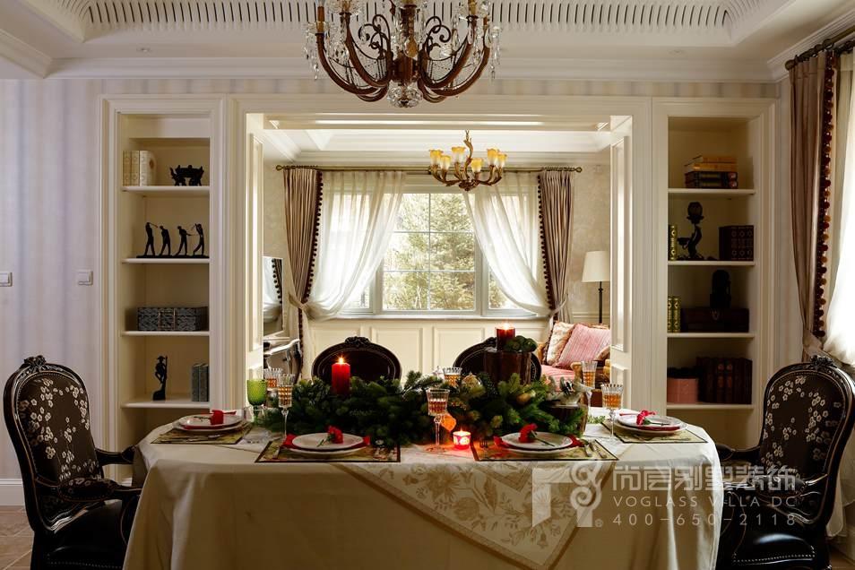 龙湖好望山美式餐厅别墅装修实景图
