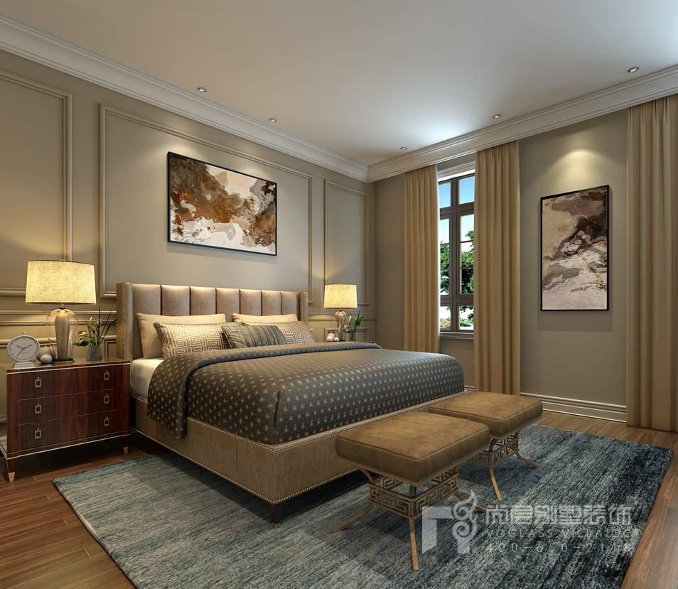 金地中央世家新古典老人房别墅装修效果图