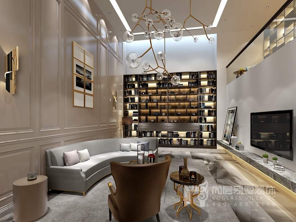 金地中央世家新古典起居室别墅装修效果图