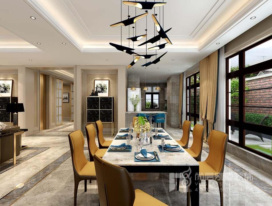金地中央世家新古典餐厅别墅装修效果图