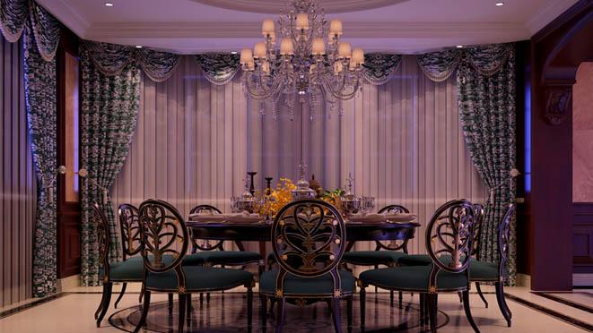 法式别墅装修餐厅效果图