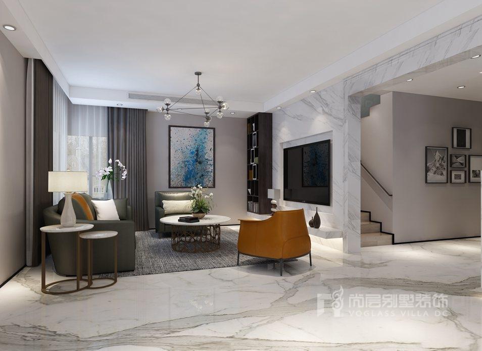 阳光100国际公寓现代客厅别墅装修效果图