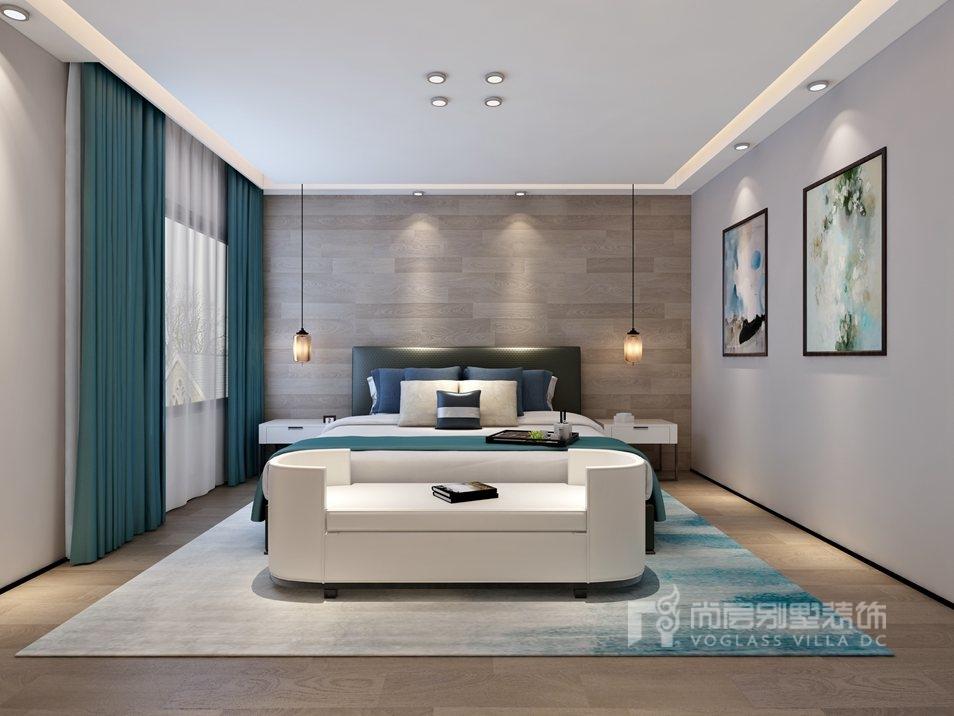 阳光100国际公寓现代主卧别墅装修效果图