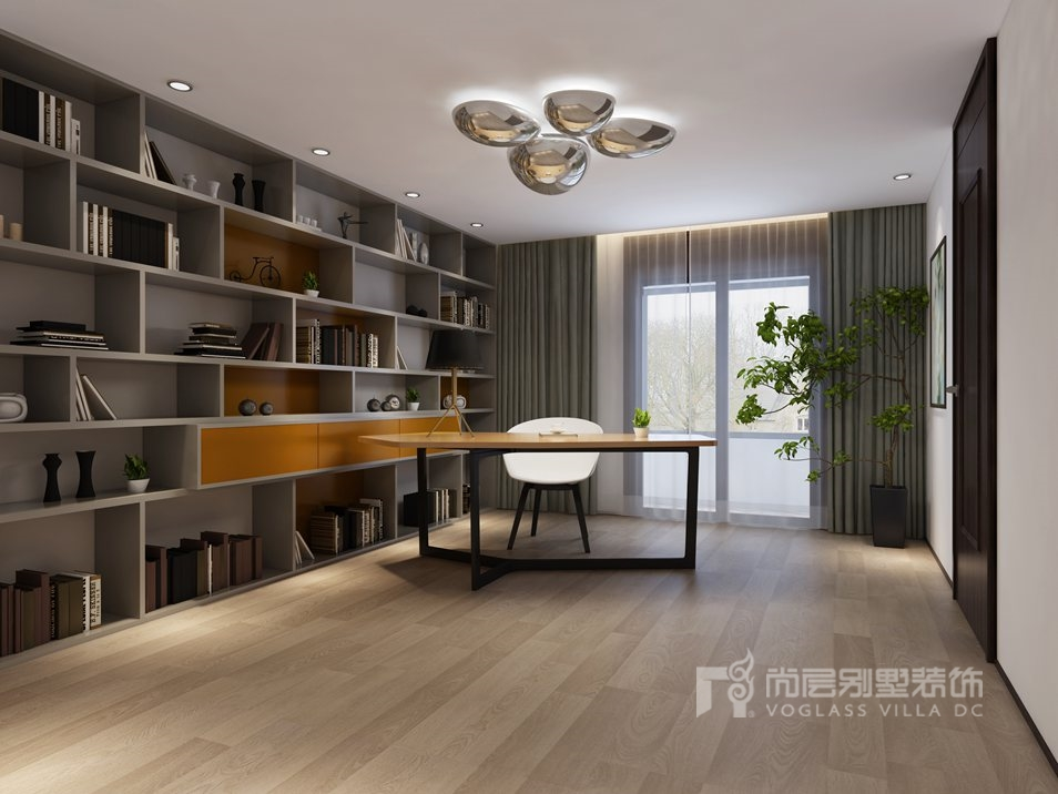 阳光100国际公寓现代书房别墅装修效果图