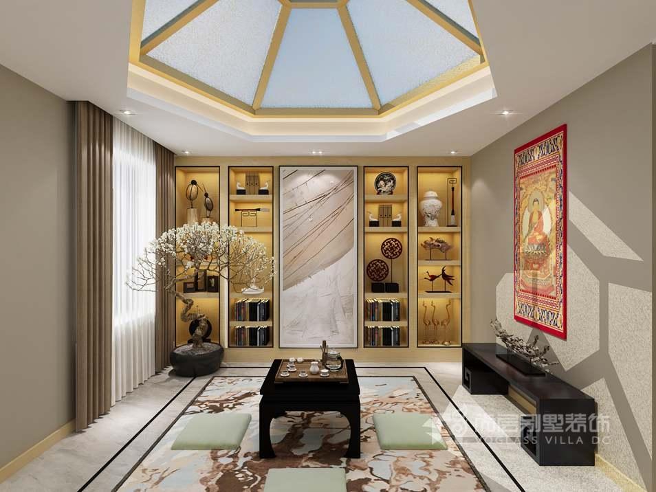 中海尚湖世家新中式阐室别墅装修效果图
