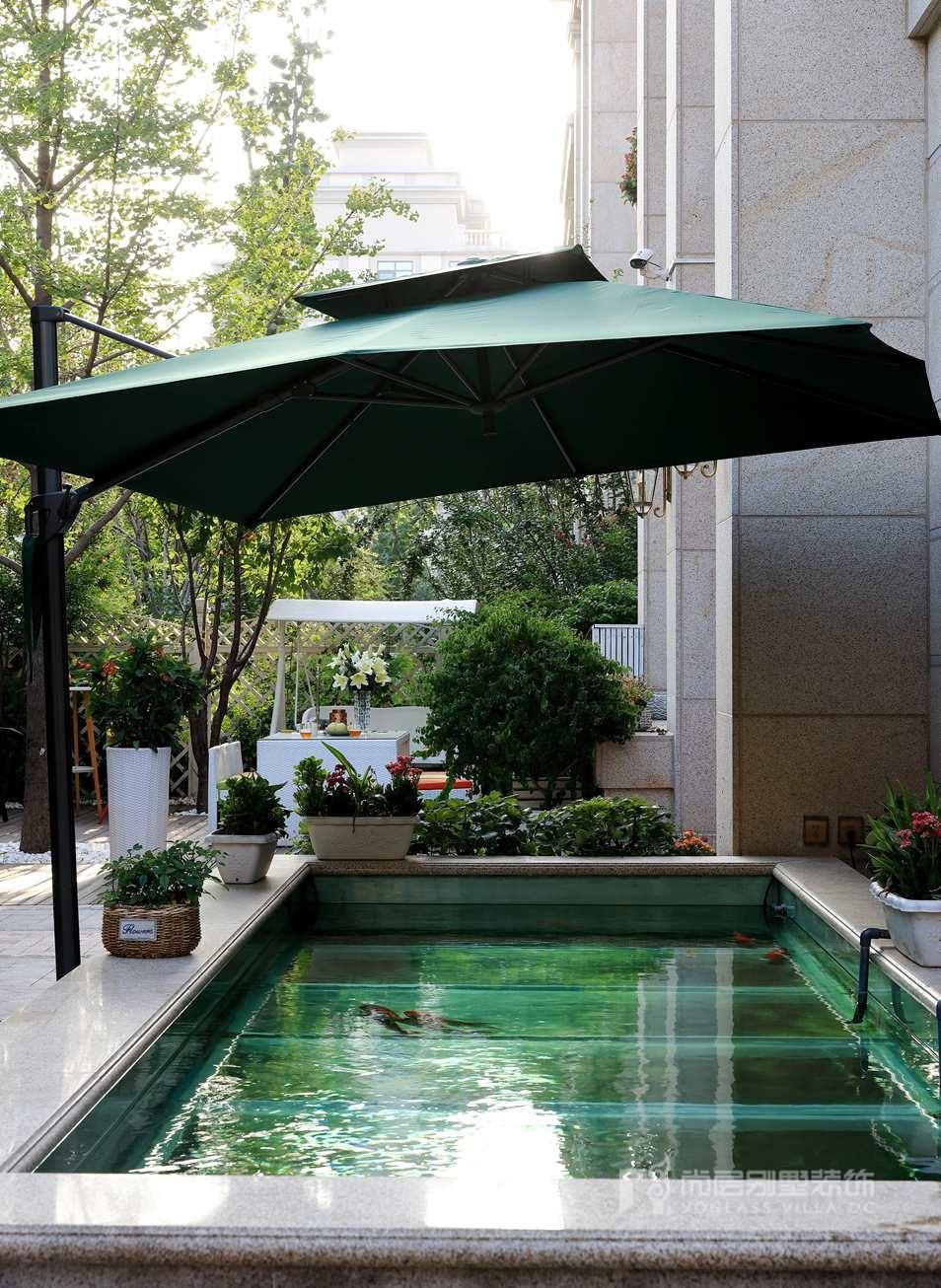 远洋天著法式新古典户外花园别墅装修实景图
