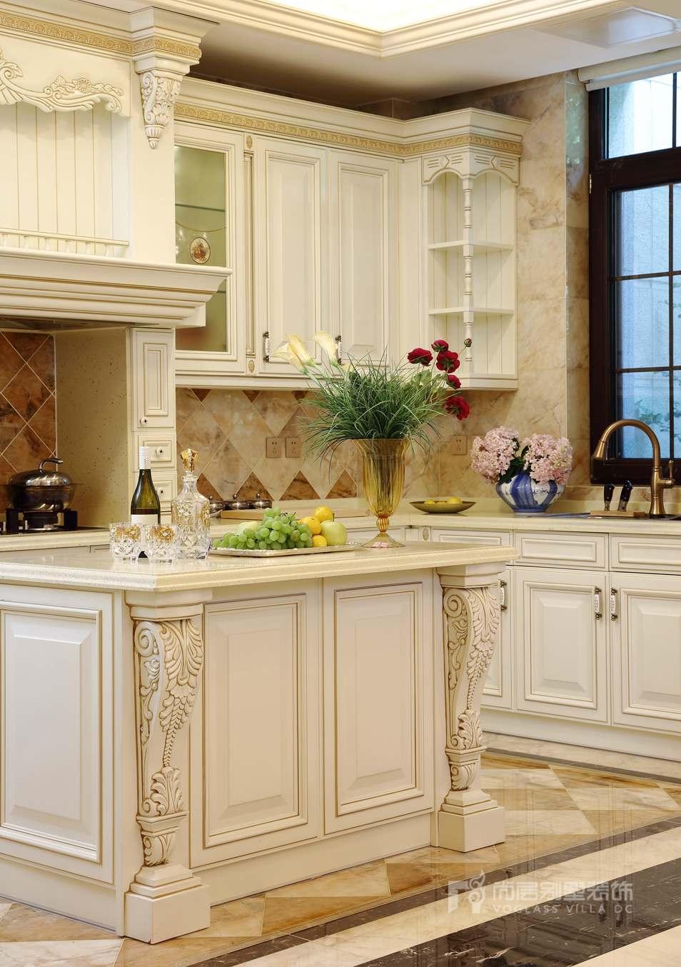 远洋天著法式新古典厨房别墅装修实景图