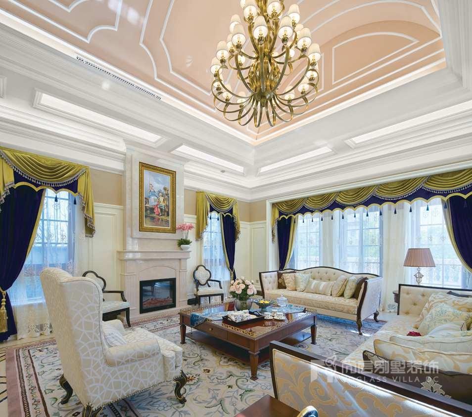 尚层别墅装修设计客厅实景图