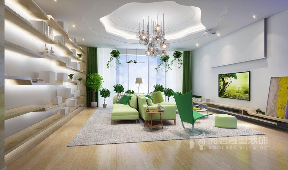 别墅装修设计客厅效果图