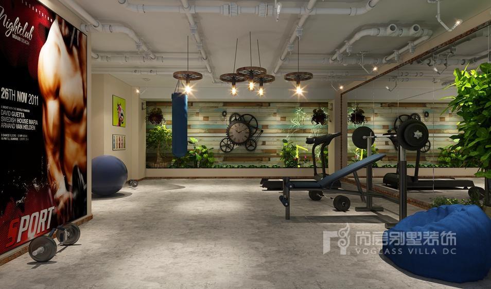 别墅装修设计健身区效果图