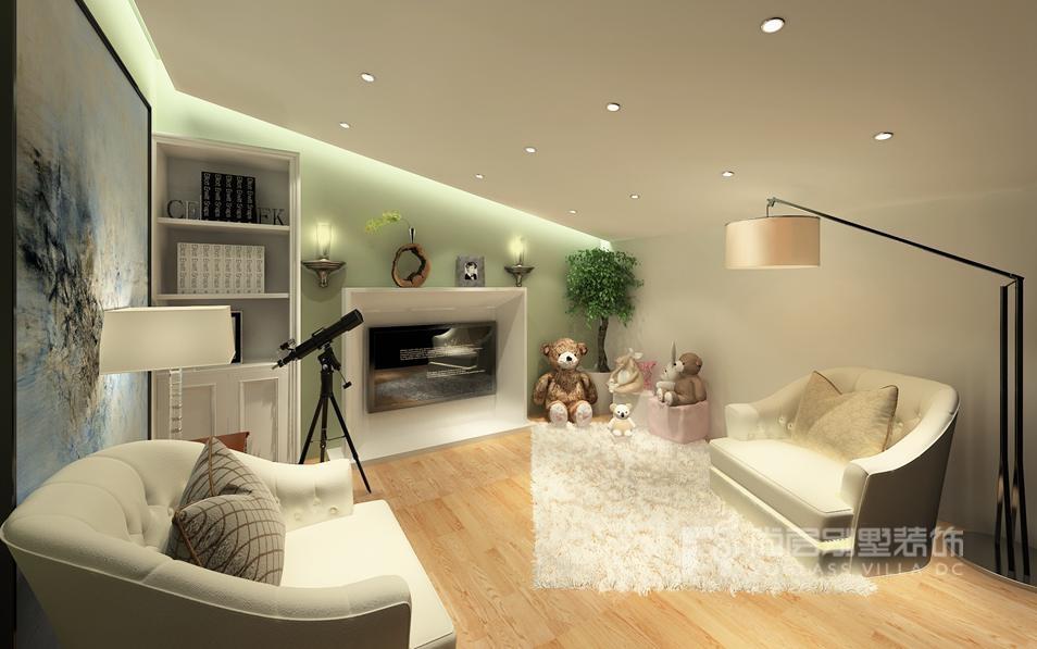 现代简约起居室别墅装修效果图