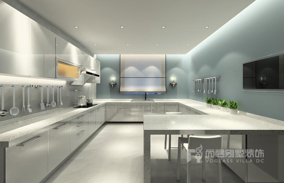 现代简约厨房别墅装修效果图
