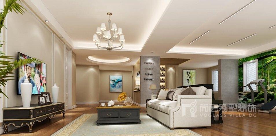 北京壹号庄园简欧家庭室别墅装修效果图