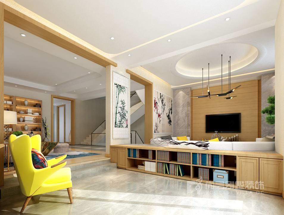 蝶泉花园现代客厅别墅装修效果图