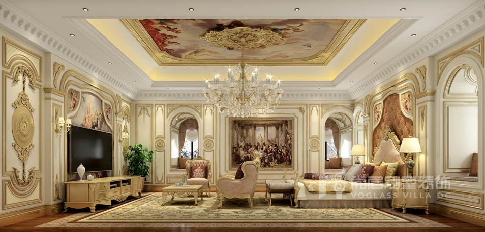 茉莉山庄法式卧室别墅装修效果图