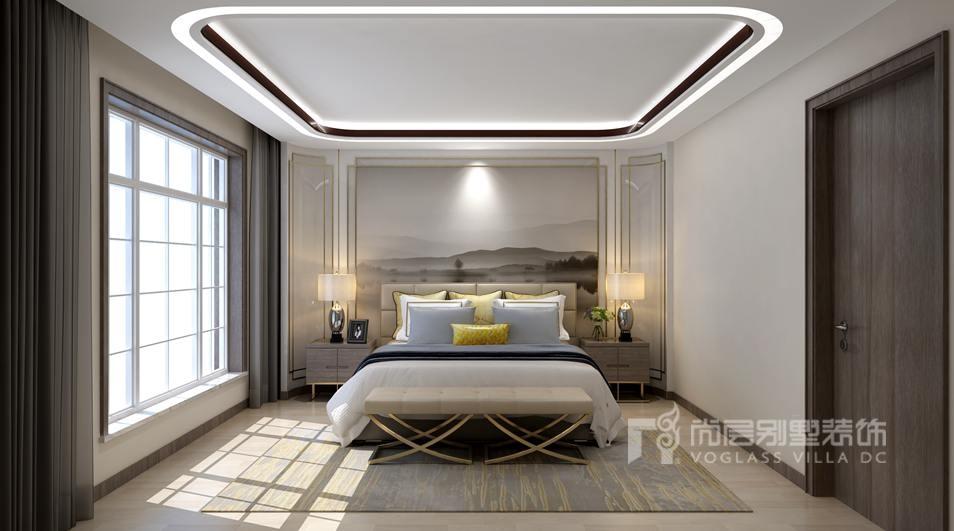 尚层装饰别墅装修方案-卧室效果图