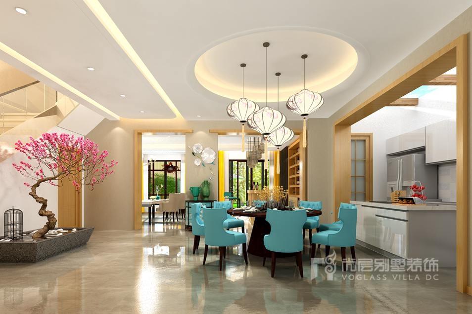 尚层装饰别墅装修方案-餐厅效果图