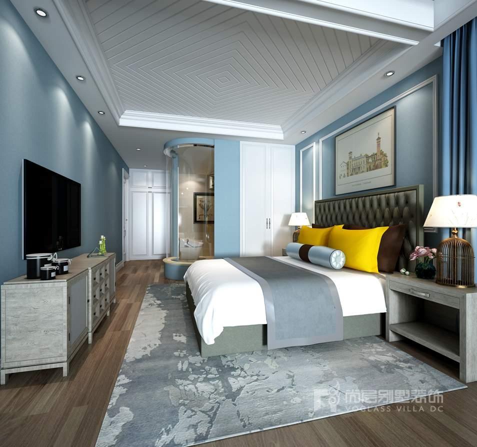 K2百合湾现代美式男孩房别墅装修效果图
