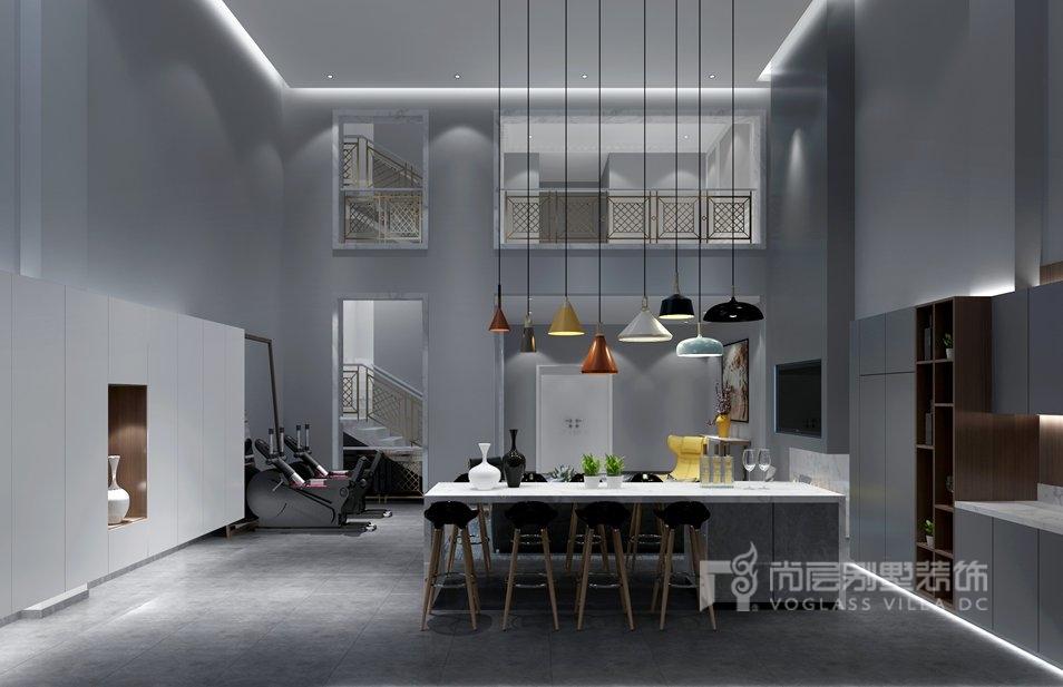 尚层装饰别墅装修知识-厨房效果图