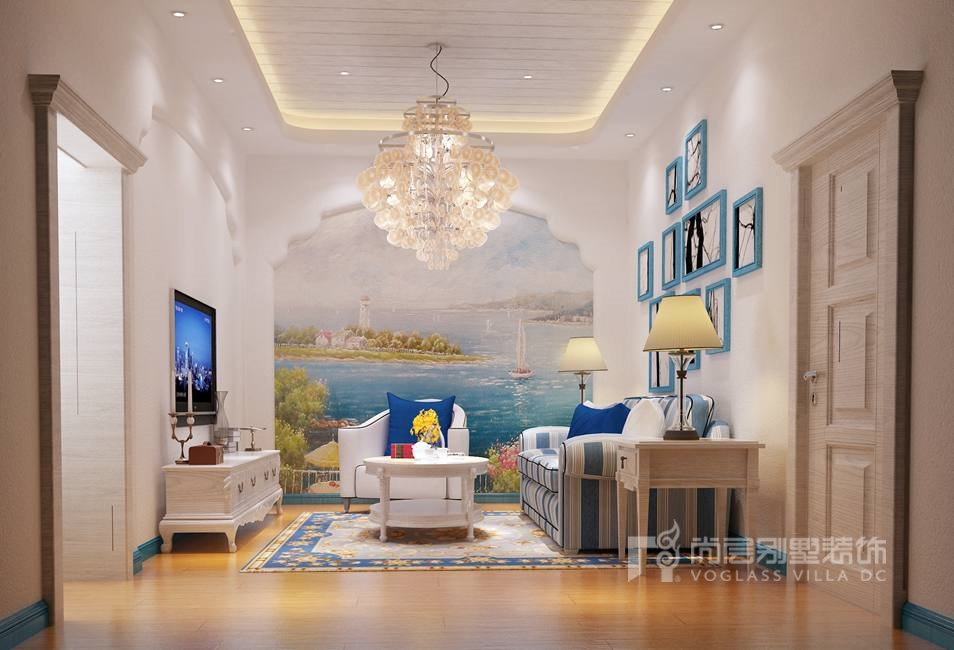 南湖一号地中海家庭室别墅装修效果图