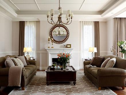 尚层装饰客厅实景图