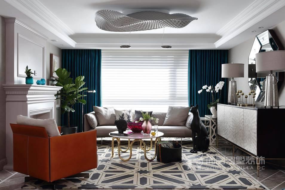 尚层别墅装饰客厅实景图